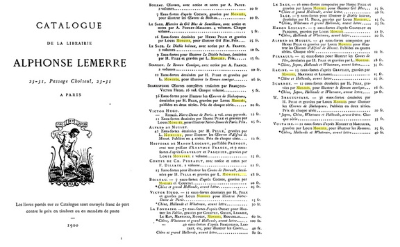 Catalogue Lemerre 1900